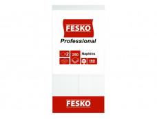"""543 Серветка""""FESKO ***1/8***  Professional""""Біла   33*33 (250л) 2-шар./4"""
