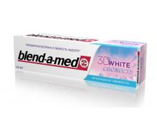 12725 Зуб.паста b-а-m  100мл 3D WHITE Бодрящая свежесть