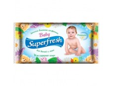 """468  Волога с-ка """"Super Fresh"""" Дитяча 15шт   /120"""