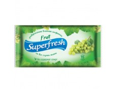 """257 Волога с-ка """"Super Fresh"""" Фруктова15шт  /120"""