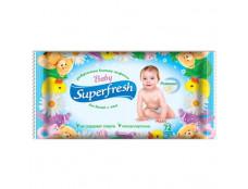 """0415  Волога с-ка """"Super Fresh"""" з Клапаном ДИТЯЧА  №72шт/12"""